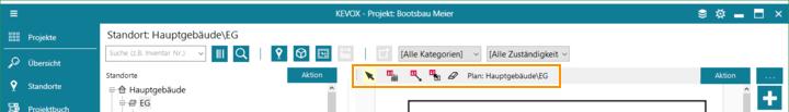 Lageplan werkzeug tool kevox management bauteil verschieben entfernen hilfslinie