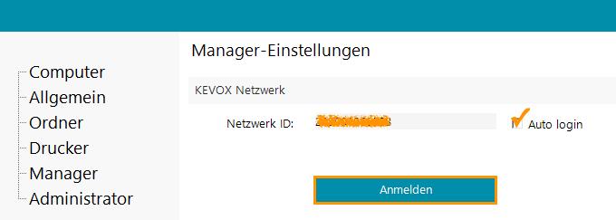 Content Server und Netzwerk Einstellung