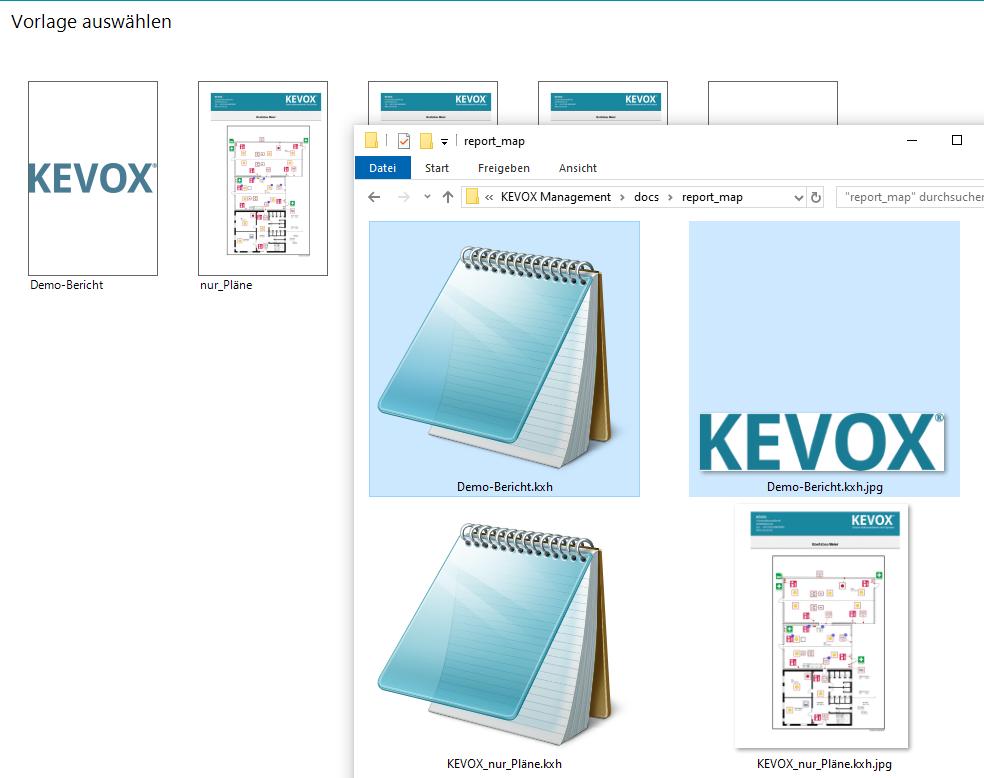 berichte anpassen management pdf jpg vorlage kevox dokumentieren