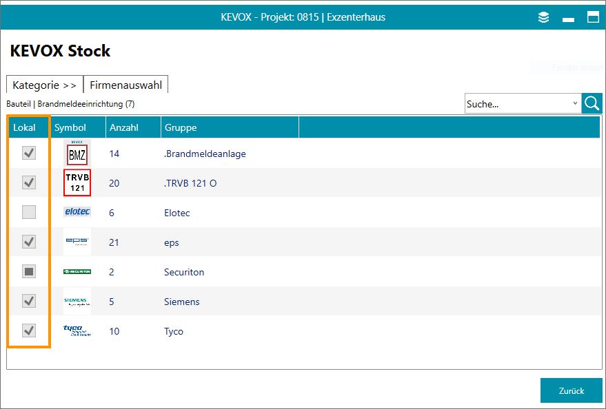 kevox stock vorlagen bauteil übersicht download herunterladen symbole