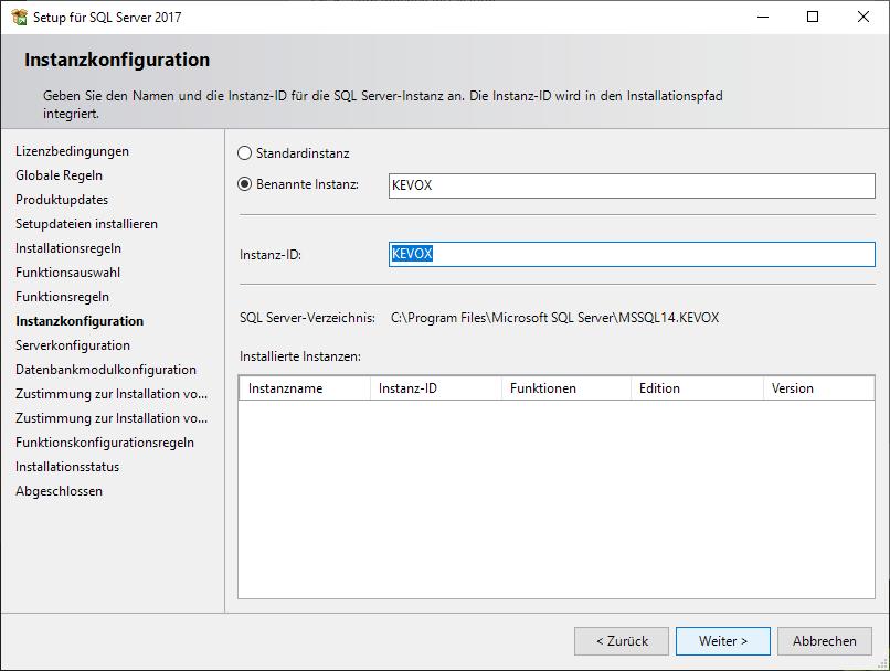 setup-sql-instanz-konfiguration-install-kevox-server
