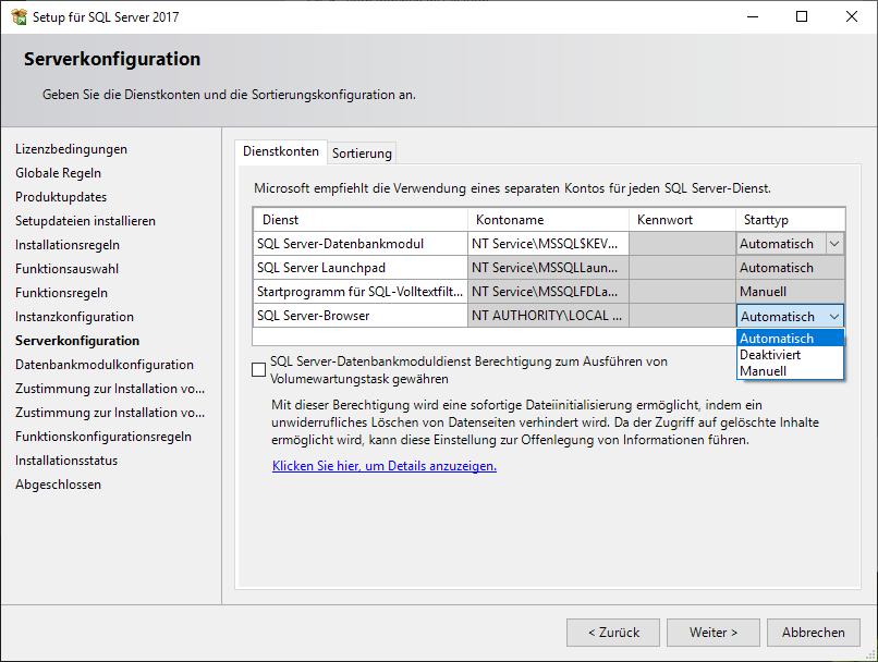 server-browser-datenbankmodul-datenbank-kevox-management