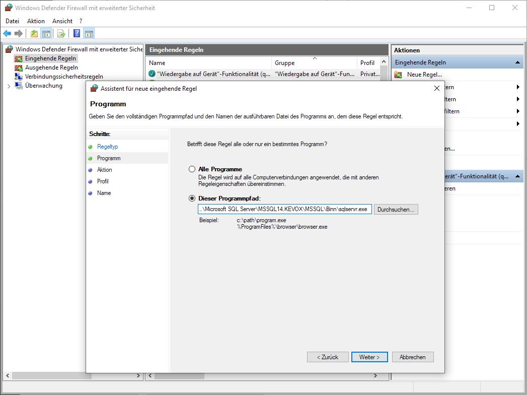 programmpfad-sql-server-firewall-kevox-management