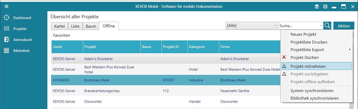 offline-reiter-mitnehmen-zurückspielen-projekt-übertragen-kevox-management
