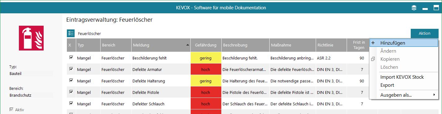 eintragsvorlagen-vorlage-verwaltung-hinzufügen-textbaustein-kevox-management
