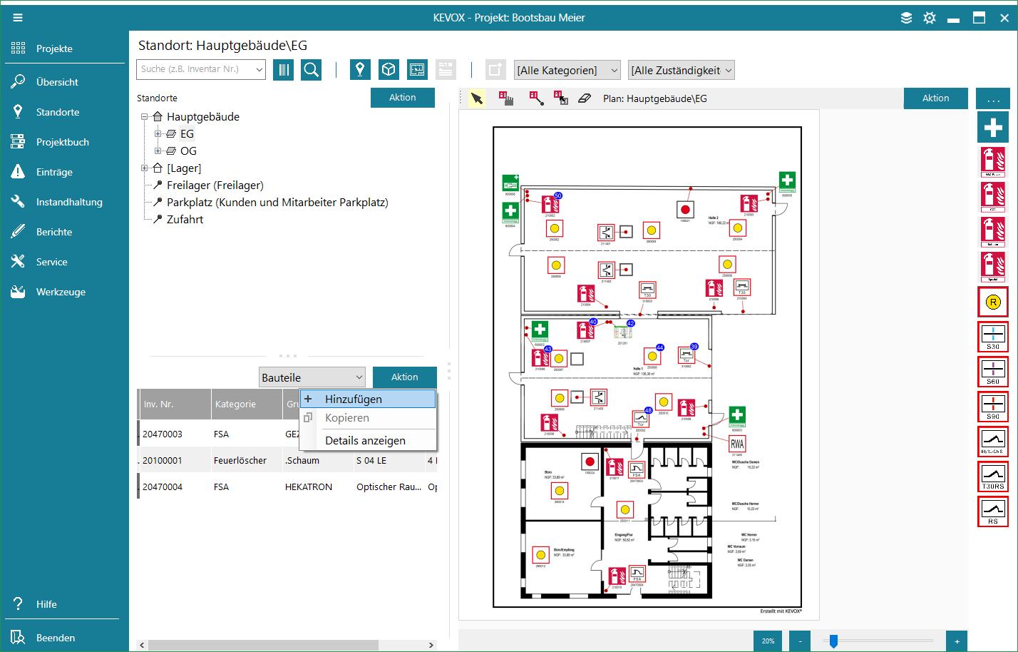 bauteil-hinzufügen-ohne-plan-liste-kevox-management