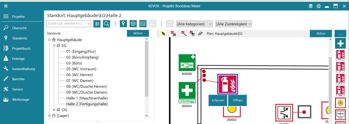mangel-eintrag-lageplan-erfassen-symbol-kevox-management